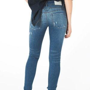 One Teaspoon Fray Hem Hoodlum Skinny Jeans 25